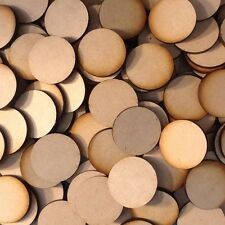 20x 32mm Round MDF Wood Bases Laser Cut Crafts Wargames Miniatures FAST SHIPPING