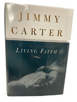 Jimmy Carter Hand Signed Autographed Book Living Faith President Nobel Peace