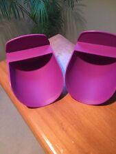 Tupperware Round FLOUR ROCKER SCOOP Sugar SCOOPS NEW  Purple (2) RARE