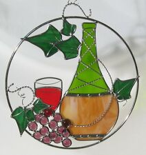 WINE BOTTLE & GRAPES RING KIT Precut Stained Glass PLEASE READ DESCRIPTION 9052