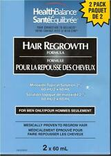 Health Balance Hair Regrowth Formula Minoxidil Topical Solution 2x60ml Men Only