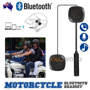 Bluetooth Motorcycle Helmet Headset Headphones Earphones Handsfree Call Control