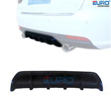"25""x5"" Euro Matte Black Universal Rear Shark Fin Curved  Bumper Lip Diffuser Kit"