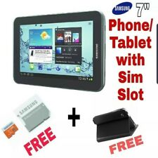 Samsung Galaxy Tab 2 Phone with sim slot for CALLS/browsing +FREE sd card & Casi