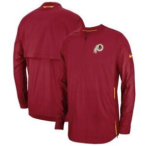 Washington Redskins Nike Sideline 1/4 Quarter Zip Burgundy Jacket Men's Size XL