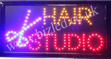 Flashing HAIR STUDIO Hairdressing LED sign board new window Shop signs