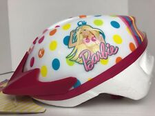 Barbie Pink/Multi Polka Dots True Fit Bike Helmet Ages 5-8 Adjustable Straps New