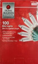 Holiday 100 Clear Mini Christmas Lights - 2.5