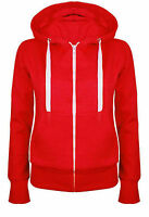 Ladies Girl NEW PLUS SIZE Zip Up Sweatshirt Hooded Hoodie Coat Jacket Top 8-26