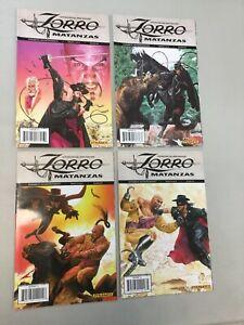 Zorro Mantanzas 1-4 Complete Set 1 2 3 4 Dynamite Comics 2010 (ZM02) READ DESCR