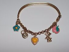 18K GOLD BABY BRACELET WITH ENAMEL CHARMS