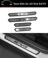 Fits For RAV4 2019 2020 2021Door Sill Scuff Plate Guard Mouldings Protector Trim