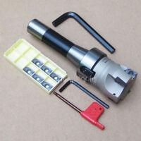 400R 50MM Face Mill+R8 FMB22 Arbor+10pcs APMT1604 Inserts + Wrench Set New
