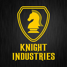 KNIGHT INDUSTRIES Rider Kitt Michael 80s Gelb Auto Vinyl Decal Sticker Aufkleber