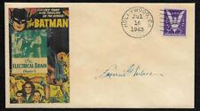 1943 Batman Movie / Serial Collector Envelope Genuine 1940s Stamp OP1326