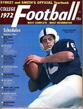 1972 Street & Smith's,College Football magazine,John Hufnagel, Penn State VG