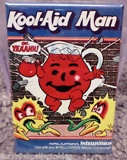"Kool Aid Man Intellivision Vintage Game Box  2"" x 3"" Refrigerator Locker MAGNET"