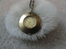Vintage Swiss Made Caravelle Wind Up Necklace Pendant Watch - Runs Fast
