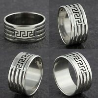 10mm Stainless Steel Mens Womens Wedding Band - Silver Unisex Ring Sizes L to Q