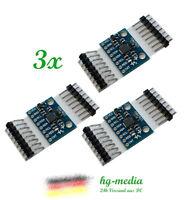 3x GY-521 MPU-6050 3 Achsen Gyroskop Beschleunigungssensor Arduino Raspberry Pi