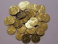 """Lot of 50 No Cash Value Brass Tokens - Eagle, Size .984"""""""