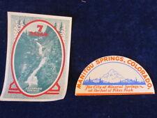 Vtg 7 Falls & Manitou Springs Colorado Decal Sticker Souvenir Lot Spring Q546