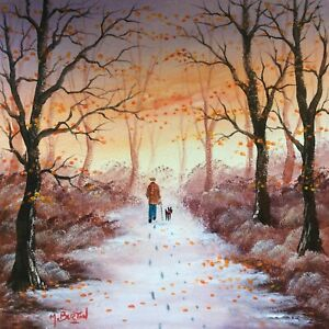 MAL.BURTON ORIGINAL OIL PAINTING. FROSTY MORNING NORTHERN ART DIRECT FROM ARTIST