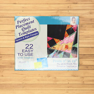DIME Machine Embroidery Perfect Placement Quilt Templates 22 Squares & Triangles