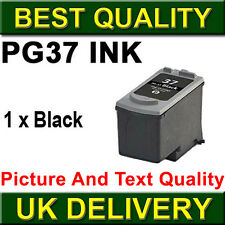 1 Black Ink Cartridge For Canon PG37 Pixma iP2500 iP2600 iP1800 iP1900 MP190