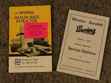 Waring Health-Juice Extractor Instructions and Recipes  ct14