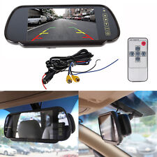 """7"""" LCD TFT Color Screen Auto Car Reverse Parking Rear View Backup Mirror Monitor"""
