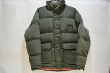 NEW Stussy World Tribe Stock Khaki Puffer Jacket Size 10