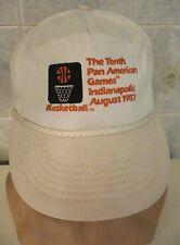 1987 THE TENTH PAN AMERICAN GAMES INDIANAPOLIS Original BASKETBALL Cap/Hat NICE!