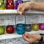 RECYCLED GLASS PUMPKIN CANDLE LANTERN TEALIGHT HOLDER - 8 COLOURS TO CHOOSE FROM