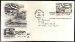 US. 2019. 20c, Fallingwater Mill Run, American Architecture. Artcraft FDC. 1982