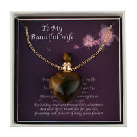"To My Beautiful Wife Jewelry Gift Box with Alloy Heart Necklace Size 22"" Ct 5"