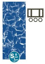 SmartLine 25 Gauge Round Sunlight Swimming Pool Overlap Liners w/ Gasket Kit