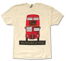 Mumford & Sons Full English Tour 2013 USA Cdn Cream T Shirt New Official Merch