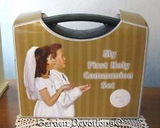 Sweet! BOYS BRIEFCASE FIRST COMMUNION SET 7pc Missal Rosary Bracelet +