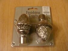 "Finials Pina Finial set "" Pewter "" Metal BRAND NEW Sealed in Original package"