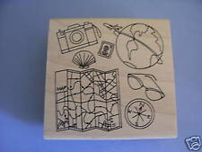 INKADINKADO RUBBER STAMPS TRAVEL BACKGROUND STAMP