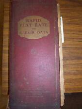 1924- 1931 Chilton Flat Rate Repair Data Part MANUAL~REO~PACKARD~STUDEBAKER~NASH