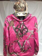 Women's Realtree AP Hot Pink/Camouflage Pullover Hoodie Sweatshirt Y-XL 16-18.