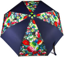Black Folding Umbrella Automatic Strong Windproof Light Compact Flower Art