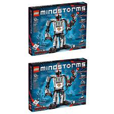 Lego Mindstorms Programmable Ev3 Kids Customizable Robot w/ Sensors Kit (2 Pack)