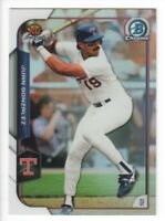 2015 Bowman Chrome Rookie Recollections #RRI-JG Juan Gonzalez Texas Rangers