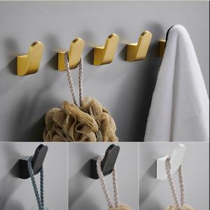 Bathroom Towel Hook-Wall Mount Single Coat Robe Towel Hook Space Aluminum 1 Pack