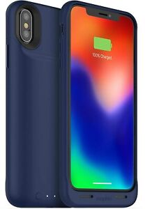 Mophie Juice Pack Air 1,720mAh Battery Case Qi-Wireless iPhone X And XS, Blue