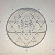 Small Flexible Resin Sri Yantra Mold Sacred Geometry 35mm Diameter