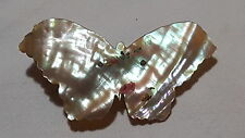 Madreperla Art Deco Vintage Antiguo Broche Mariposa